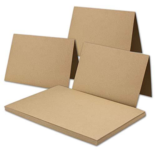 25 x papel de estraza vintage en gris – DIN A3 – 29,7 x 42 cm – 240 g/m² – cartón reciclado natural – 100% ecológico – Tarjeta individual – UmWelt by Gustav Neuser