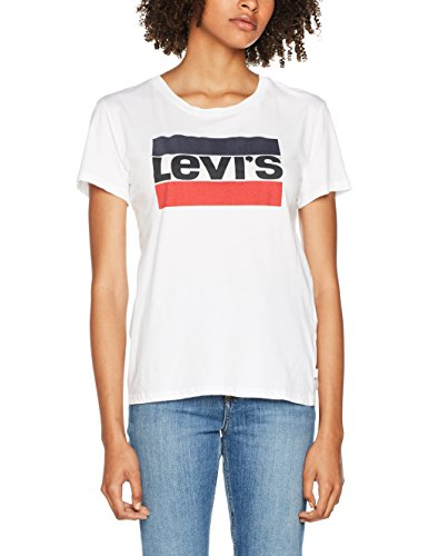 Levi's Damen The Perfect Tee T-Shirt, Weiß (Sportswear Logo White 0297), X-Large