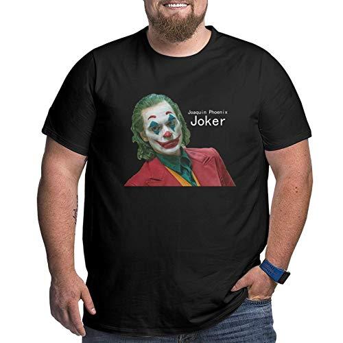 Joker Joaquin Phoenix Men's Graphic Cotton Short Sleeve T-Shirt Black XL
