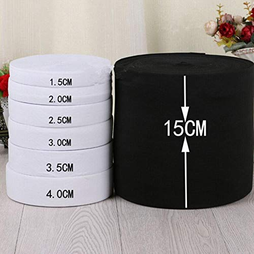 Taoji 8-40 mm 2 m wit zwart vlakke elastische band knutselen broek naaien accessoires stof spandex elastische band kleding