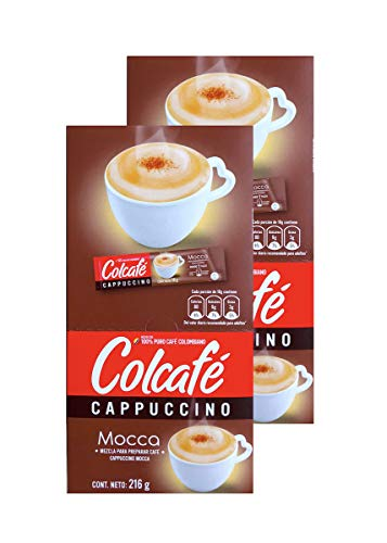 Colcafe Mocca Cappuccino Colombian Coffee Instant Mix, 12-Count Envelopes (Pack of 2).