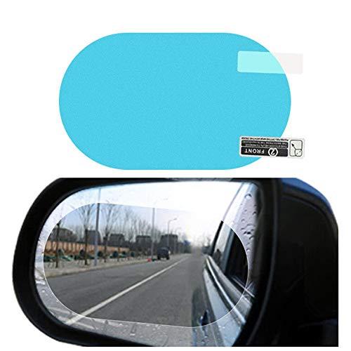 41iKv63h7OL - Car Rearview Mirror Film,Car Anti Water Mist Film, HD Anti-Fog Nano Coating Rainproof Film. Anti-Glare,Anti-Scratch Screen Protector for Rear View Mirror (100 mm X 145mm)