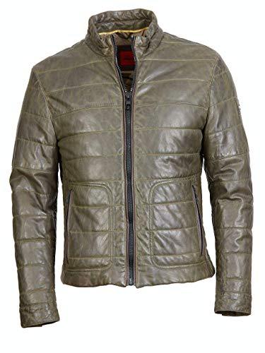 Offset kurtka skórzana z pikowaniem 808a 5625