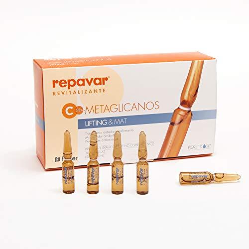 Repavar METAGLICANOS Vitamina C +  Serum Facial Antiedad Lifting&Mat 30 Ampollas. Pieles mixtas y grasas