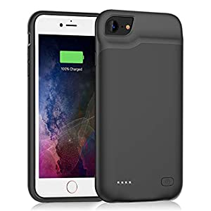 Battery Case For Iphone 66s78 Se 2020 Upgraded 6000mah Slim Rechargeable Power Charging Case For Iphone 66s78 Se 2020 2nd Generation Extended Battery Pack Protective Charger Case Black