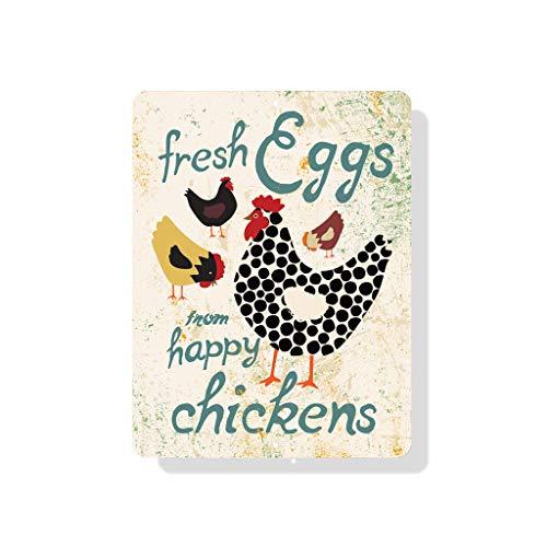 pottelove Fresh Eggs von Happy Hühner 22,9x 30,5cm (Seashell Farbe)