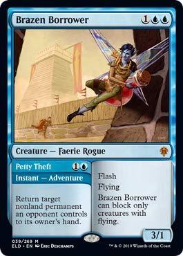 Magic: The Gathering - Brazen Borrower - Foil - Throne of Eldraine