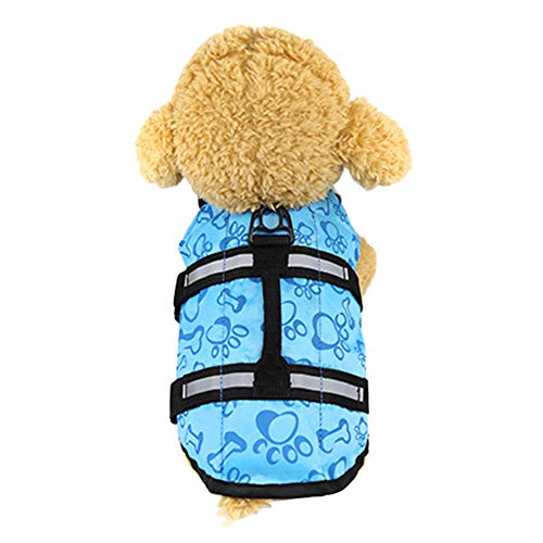 KeKeandYaoYao Hond Leven Jas Huisdier Zwemmen Veilig Vest Verstelbare Reflecterende Badpak Kleding, XS, roosrood