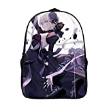 Fate/stay Night Saber Alter おしゃれ カジュアル 大容量 こども 通用する リュック 通学 バックパック 旅行 運動 ランドセル 40 x 28 x 16 cm