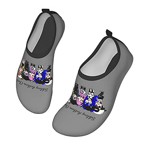 Its-Funneh - Zapatos de agua para hombre y mujer al aire libre, calcetines descalzos para la playa, correr, esnórquel, playa, natación, piscina, surf, yoga, ejercicio., color Negro, talla 36 EU