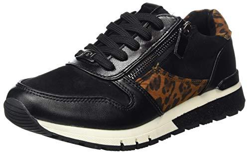 TOM TAILOR Damen 9091102 Sneaker, Black, 37 EU