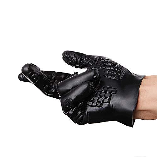 Massage Full Finger Glove Fäustling Weihnachten Halloween Geschenk für Paar Spiel Fun Play Typ B Schwarz