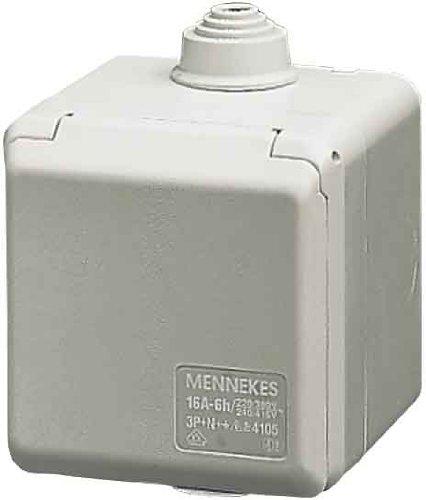 Mennekes Wanddose Cepex 4102 16A,3p,6h,230V,IP44 Cepex CEE/SCHUKO-Architekturprogramm (IP44) 4015394021391