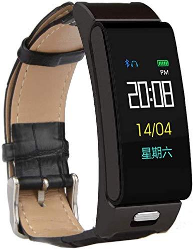 Pulsera de actividad física con monitor de frecuencia cardíaca, impermeable, inteligente, contador de pasos, contador de calorías, podómetro, reloj para niños, mujeres, hombres, piel negra
