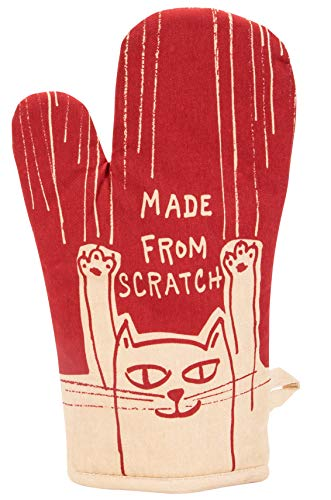 Made From Scratch Oven Mitt by Blue Q. Super-insulated quilting, natural-fitting shape, 100% cotton.
