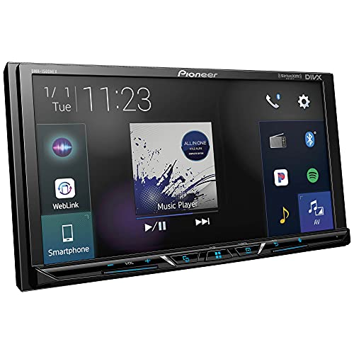 Pioneer DMH-1500NEX Digital Media Receiver with 7' WVGA Display, Apple CarPlay, Android Auto, Built in Bluetooth