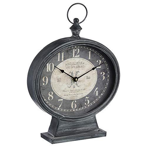 Reloj de mesa de metal - estilo vintage
