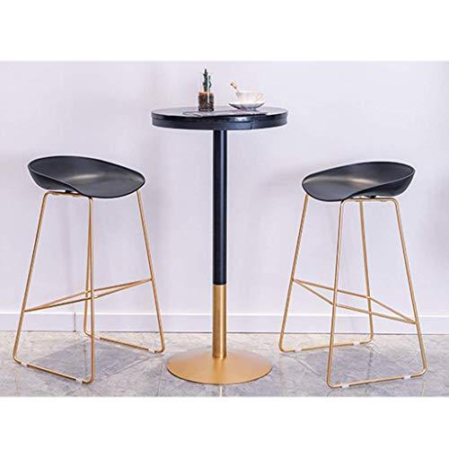 N/Z Tägliche Ausrüstung Hocker Barhocker Esstisch Set 3-teiliges rustikales Frühstück Bistro Pub Tisch mit 2 Stühlen für Küche und Restaurant B.