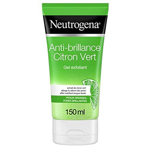 Neutrogena Gel Nettoyant Exfoliant Visage, Anti-Brillance, Citron Vert, 150 ml