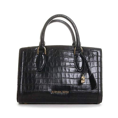 """Crocodile-embossed leather Fabric: 100% Leather 11.5""""W X 8""""H X 5.5""""D Style Number: 30F9GZCS2E Imported"""