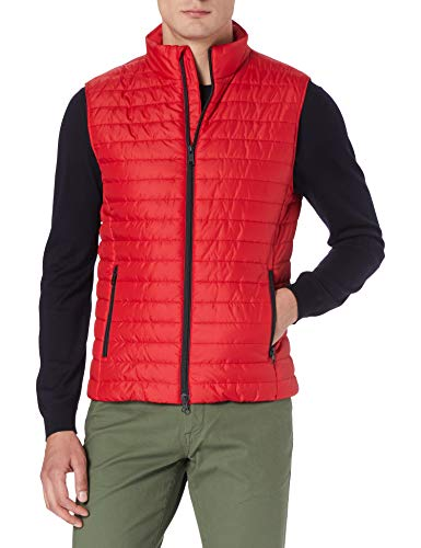 Geox M WILMER VEST - POLYESTER DULL JACKET, Hombre, TRUE RED