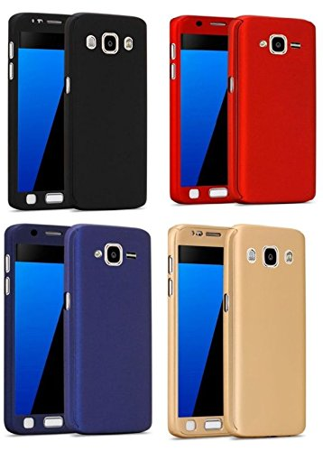 Samsung Galaxy ON7 Ipaky 360° Front Back Cover & Temper Glass(Blue)