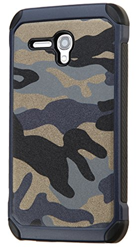 Asmyna – Funda para Alcatel 5054 (OneTouch Fierce XL), Camouflage Navy Blue Backing/Black