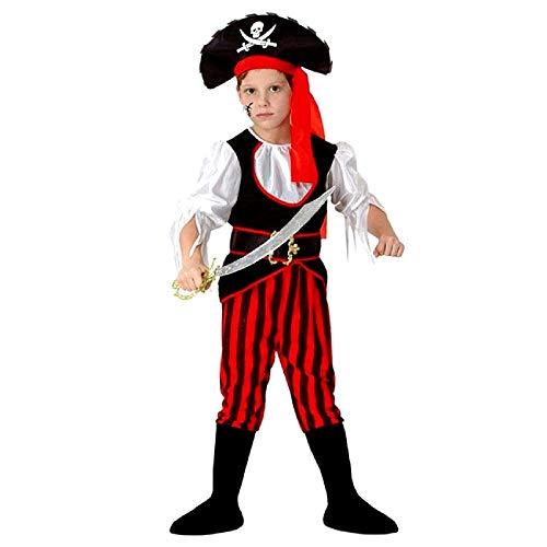 Piraat kostuum - zeerover - kind - vermomming - carnaval - halloween - accessoires - maat l - 7/10 jaar - 120/130 cm - cadeau-idee voor kerstmis en verjaardag cosplay
