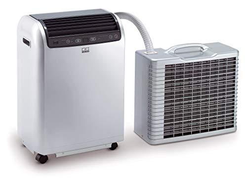 REMKO Lokales Raumklimagerät RKL 495 DC, silber (Split-Ausführung, Klimagerät für ca. 120m³, Kühlleistung 4,3 Kw, incl. Fernbedienung) 1616496