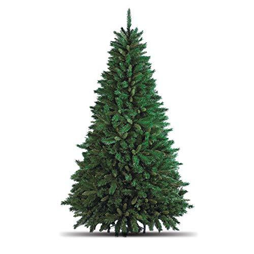Totò Piccinni Albero di Natale Artificiale, 210 cm (1078 Rami) + Borsone, FOLTO di ALTISSIMA QUALITA', Effetto Realistico, Rami a Gancio, Facile Montaggio, PVC, Base Metallica, Ignifugo