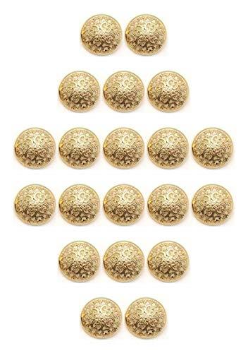 happican 金 色 の 花 透かし フラワー 華やか 装飾 ボタン 約20�o 20個 セット