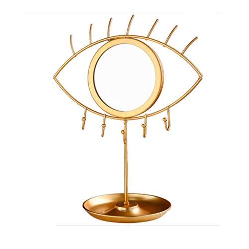 JYDQM Soporte de exhibición de joyas con espejo, se puede utilizar para colgante de cadena, anillo, pendiente, reloj, pulsera, bandeja de joyería