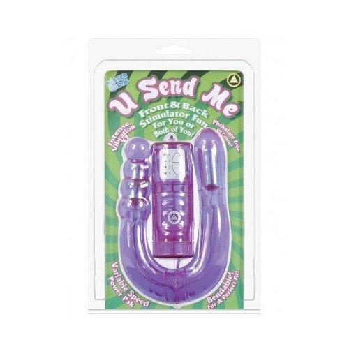 Golden Triangle U Send Me Dual Vibrator, Purple