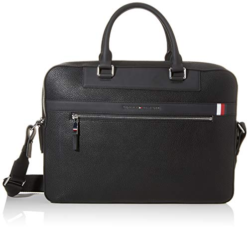Tommy Hilfiger Herren Th Downtown Computer Bag Laptop Tasche, Schwarz (Black), 1x1x1 cm