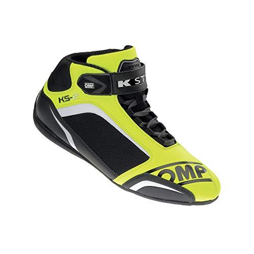 OMP OMPIC/81205943 Zapatillas, Flúor Amarillo/Negro, Talla 43