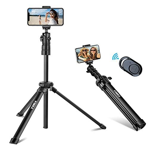 ViWAA Trépied Smartphone, 139cm Extensible Perche Selfie Trépied Stable avec Télécommande sans Fil, Selfie Stick Compatible avec iPhone 12 Pro Max/12 Mini/11 Pro Max/XR/X, Samsung, Caméra