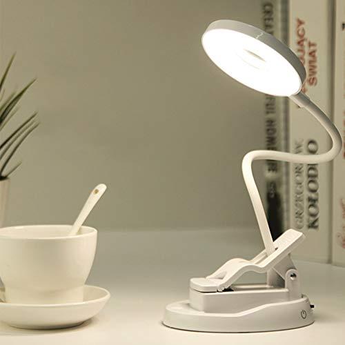 デスクライト led クリップライト ブックライト LEDライト 電気スタンド ナイトライト 2段階調色 無段階調光 充電式 USBコード付き 360度回転 卓上ライト タッチセンサー式 PC作業・仕事・卓上・読書ランプ・寝室 自然光 目に優しい