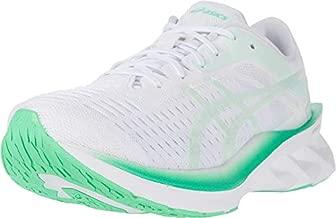 ASICS Women's NOVABLAST Running Shoes, 9, White/Mint Tint