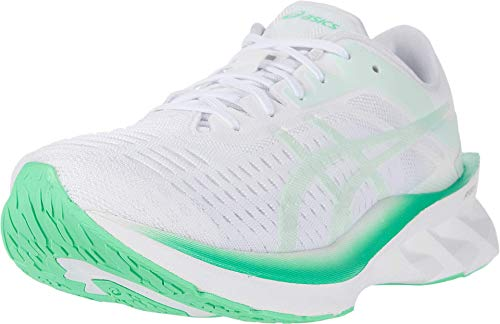 ASICS Women's NOVABLAST Running Shoes, 10.5M, White/Mint Tint