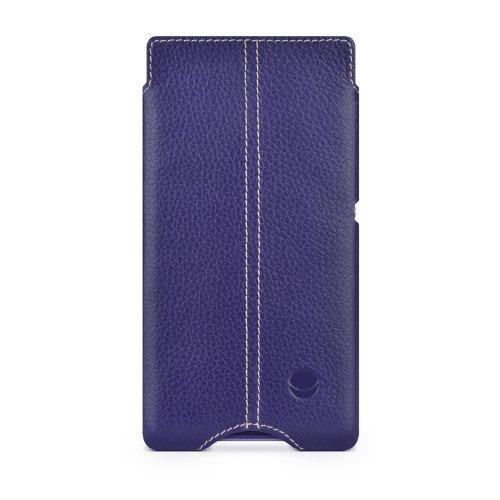 BeyzaCases Zero - Funda de piel para Sony Xperia E1, púrpura