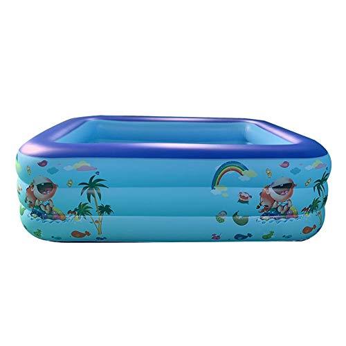 Piscina hinchable grande para niños, niños pequeños, adultos, jardín, exterior, fiesta de agua de verano, centro de natación, -, 120 二环 PE 袋 包装