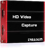 TreasLin HDMI キャプチャーボード ゲームキャプチャー ビデオキャプチャー 軽量小型 USB対応 Windows, Linux, MAC対応 電源不要 PS4、XboxやNintendo Switch用 YouTube/Twitchなどにゲーム録画 実況 配信 ライブ会議用 HSV320