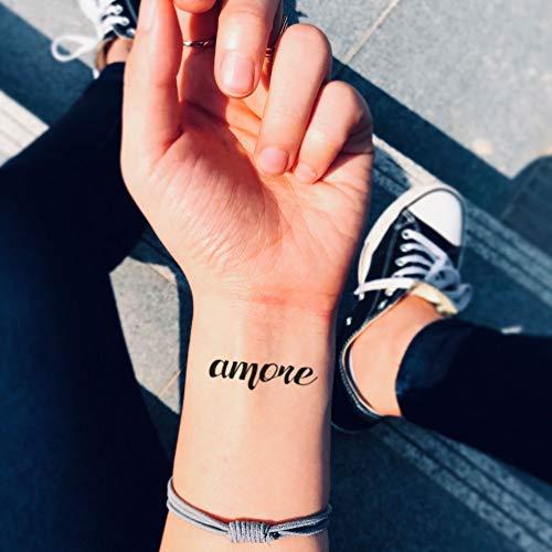 Tatuaje Temporal de Amore (2 Piezas) - www.ohmytat.com
