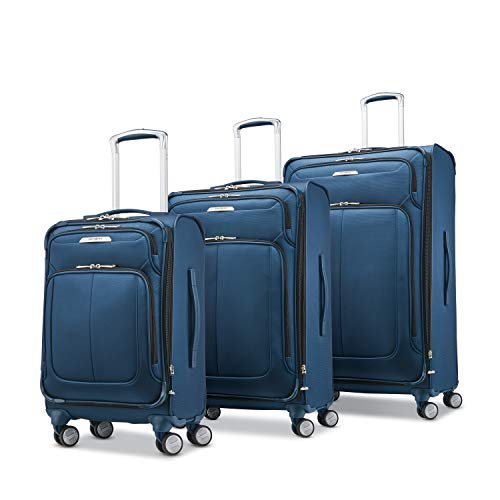 Samsonite Solyte DLX Softside Expandable Luggage with Spinner Wheels, Mediterranean Blue, 3-Piece Set (20/25/29)