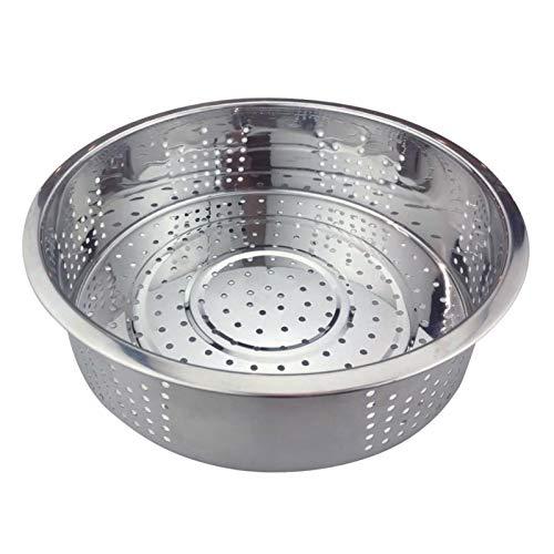 Vaporera de acero inoxidable, olla arrocera profunda engrosada para el hogar, rejilla para cocinar al vapor, cesta para cocinar al vapor, cesta para drenaje de frutas y verduras, herramienta de cocina