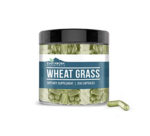 Wheat Grass, Natural Source of Vitamins & Minerals, Green Superfood, Pure & Potent, No Additives or Fillers, Non-GMO, Lab-Tested, Made in USA (900 mg)