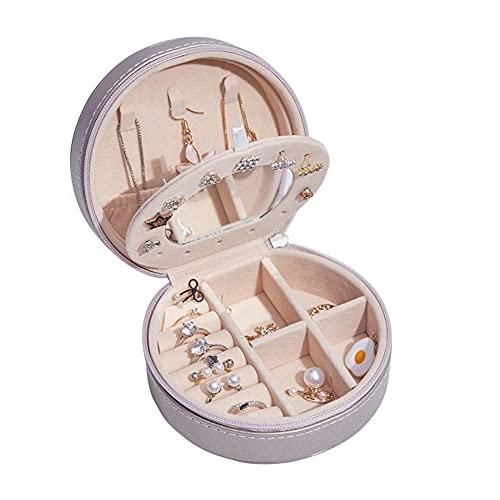 Joyero Pequeña, Caja de almacenamiento de joyas portátil creativa, pendientes, pendientes, anillo, joyero pequeño-C1