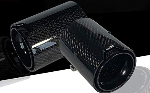Full black carbon fiber exhaust tip refit fit for M2 M3 M4 Pipe 4 piece