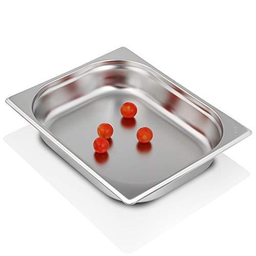 Preisvergleich Produktbild Greyfish GN-Behälter :: ungelocht :: geeignet für Gaggenau,  Miele und Siemens Dampfgarer (Edelstahl,  Spülmaschine geeignet,  Gastronorm 1 / 2,  B 32, 5 x T 26, 5 x H 6, 5 cm)