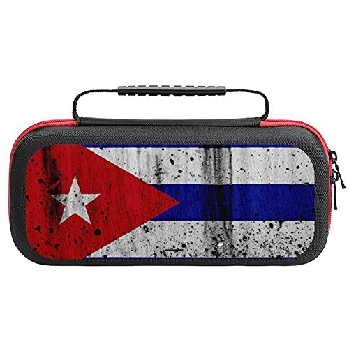 Love Gong Grunge Cuban Flag Nintendo Switch用 スイッチ ハード ポーチ アクセサリー 収納バッグ ニンテンドースイッチ ケース 任天堂スイッチ用のキャリングケース 大容量 防塵 耐衝撃 全面保護